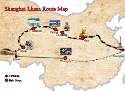 Chendgu Lhasa Route Map