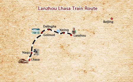 Lanzhou Lhasa Train